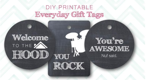 DIY Printable Everyday Gift Tags