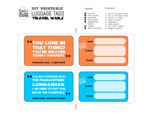 Travel Wars luggage tags