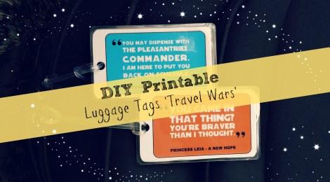 DIY Printable Luggage Tags 'Travel Wars'