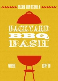DIY Printable Backyard BBQ Bash Invite