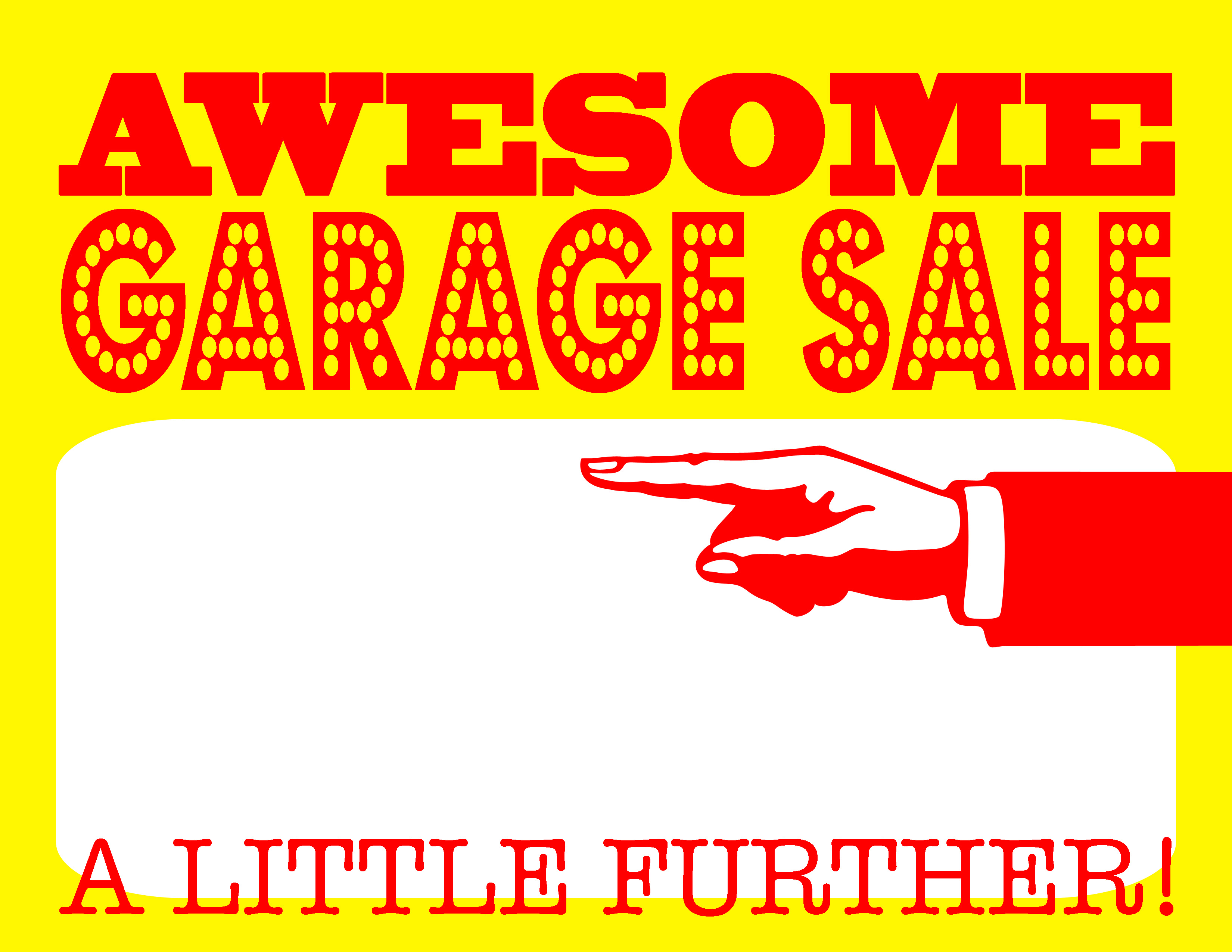 image relating to Printable for Sale Signs called Do-it-yourself Printable Incredible Garage Sale Indications