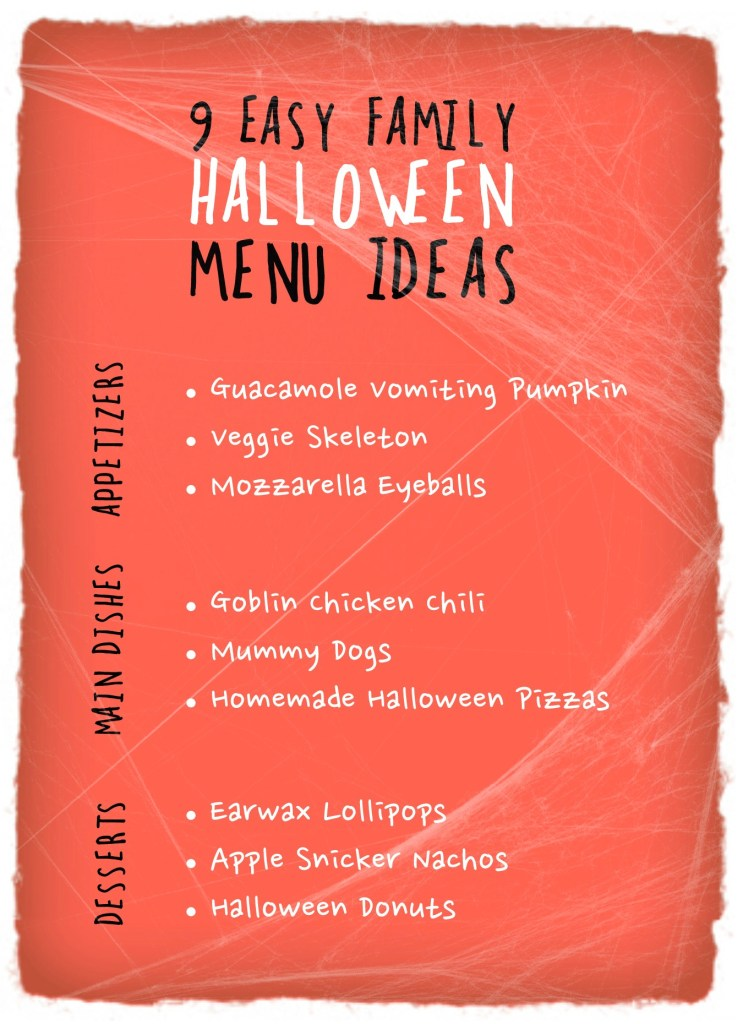 halloween menu ideas