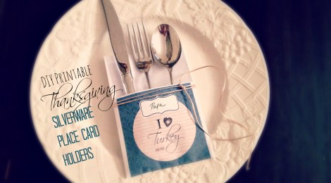DIY Printable Thanksgiving Silverware Place Card Holders