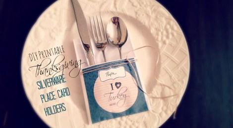 DIY Printable Thanksgiving Silverware Place Card Holders