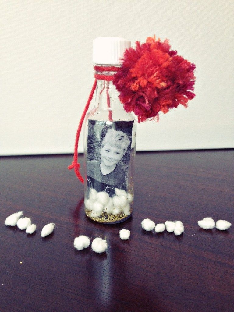 diy photo waterless snow globe 7