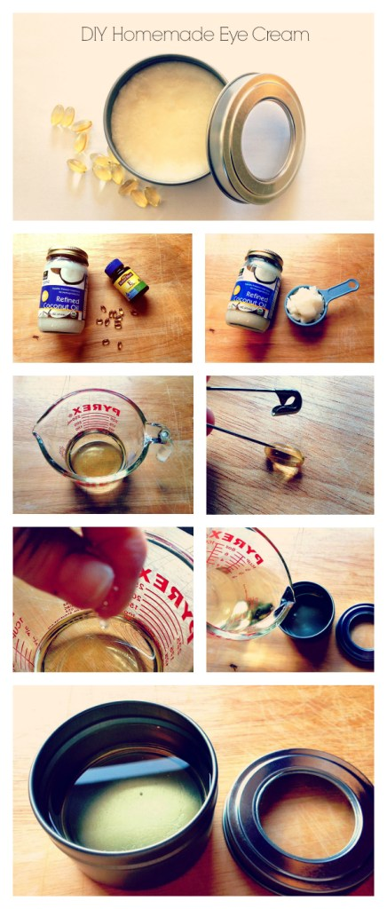 DIY Homemade Eye Cream Collage
