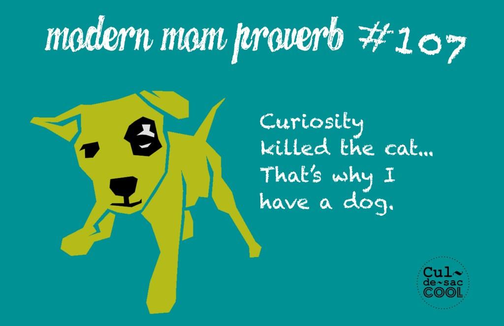 Modern Mom Proverb #107 Curiosity