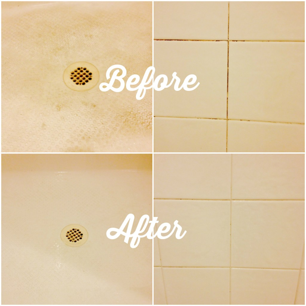 DIY Tub & Shower Scum Eliminator Collage 2