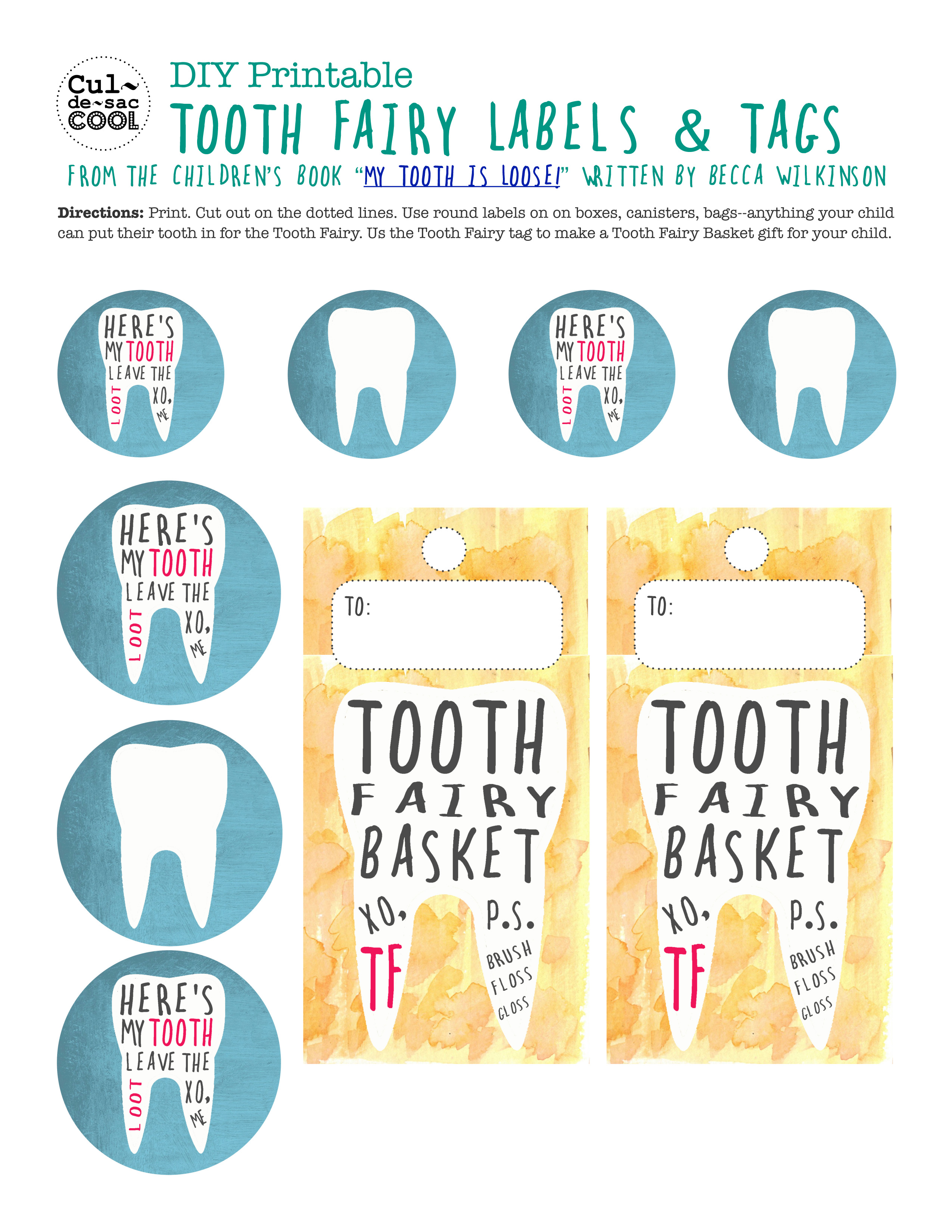Diy Tooth Fairy Basket With Free Printables From The