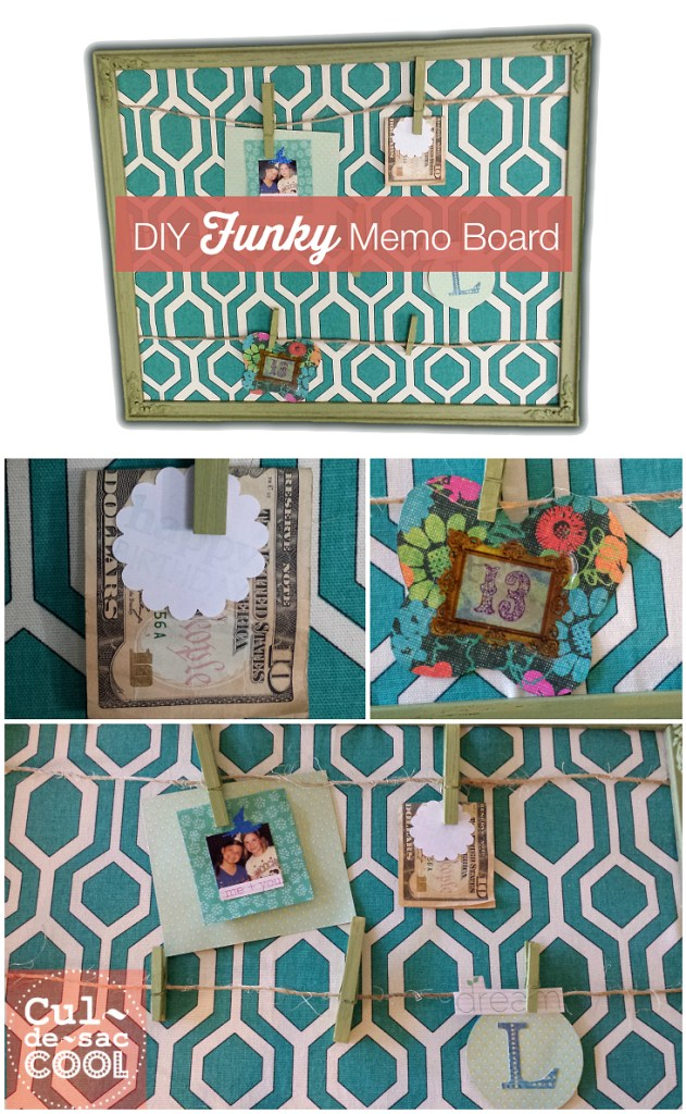 diy funky memo board collage
