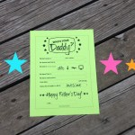 DIY Printable Father's Day Worksheet — Who's Your Daddy?