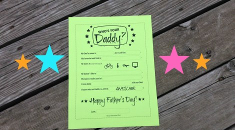 DIY Printable Father's Day Worksheet -- Who's Your Daddy?