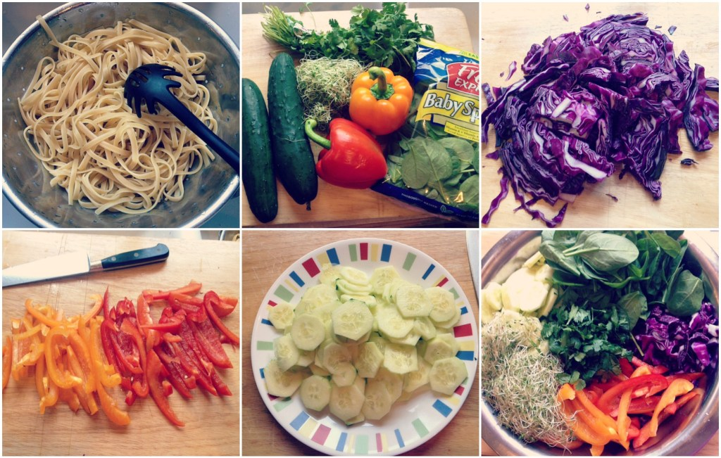 asian noodle salad 1 Collage