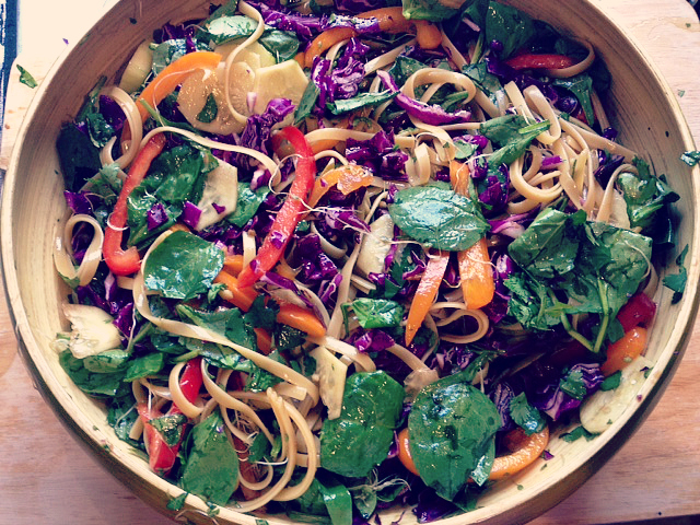 asian noodle salad 14
