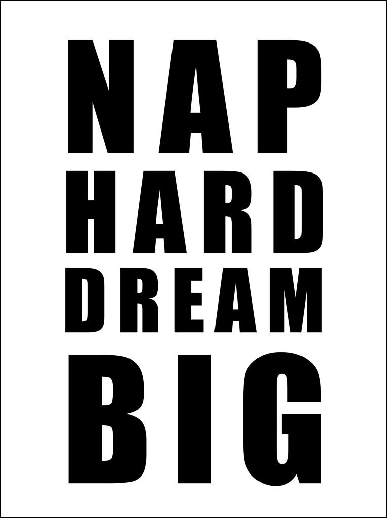DIY Night Light Nap Hard Dream Big Graphic