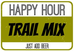 Trail Mix Labels - Happy Hour