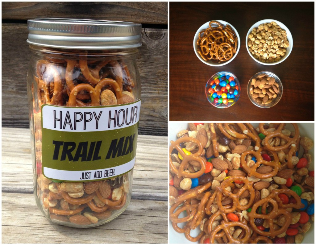 diy trail mix happy hour Collage