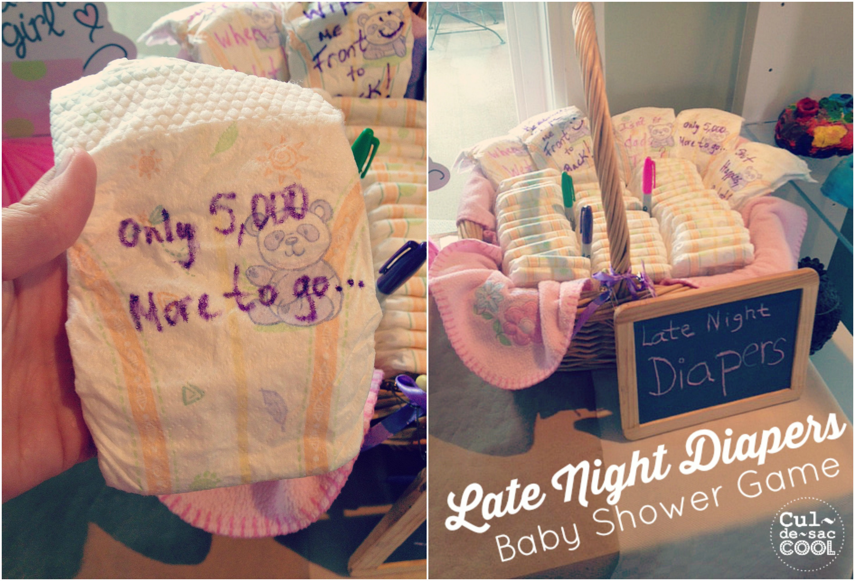 photo about Late Night Diaper Messages Free Printable known as Late Evening Diapers Boy or girl Shower Activity