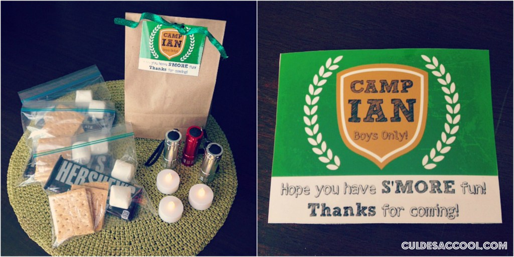 DIY Camp Birthday Goody Bag Collage