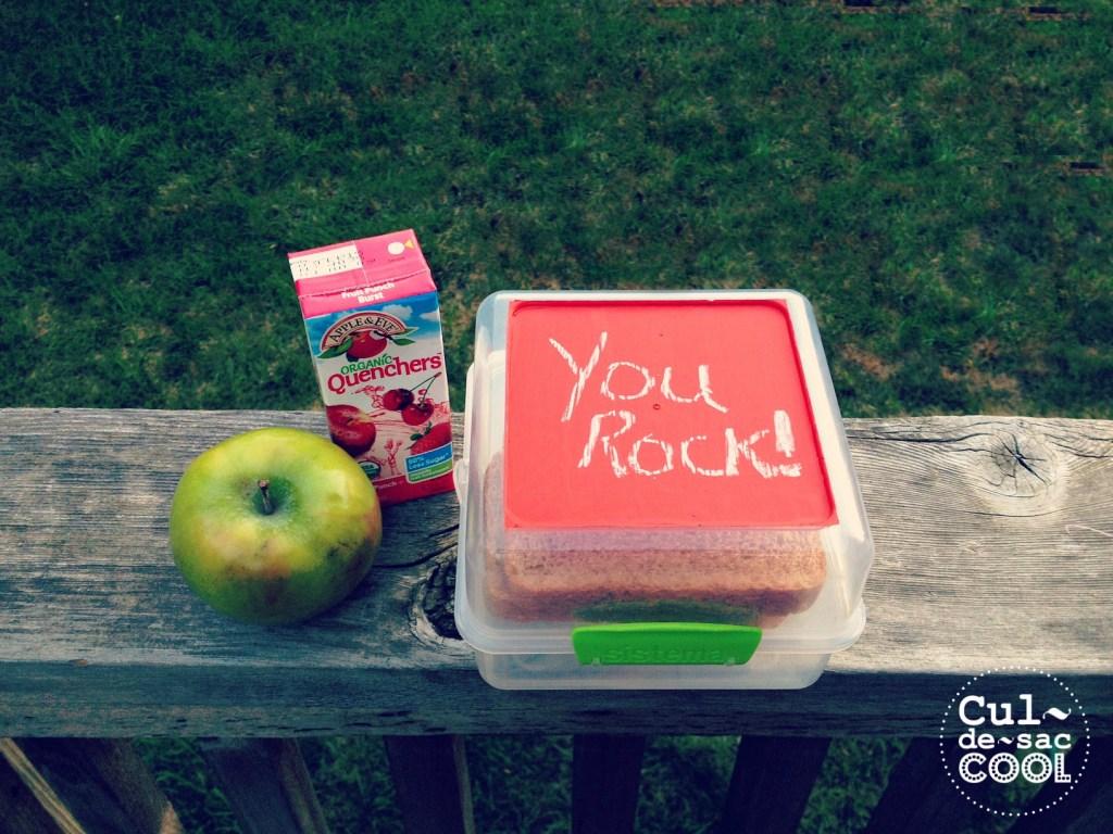 DIY chalkboard sandwich lunch box cover 2