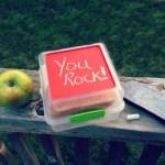 DIY Chalkboard Sandwich Lunch Box