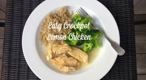 Easy Crockpot Lemon Chicken
