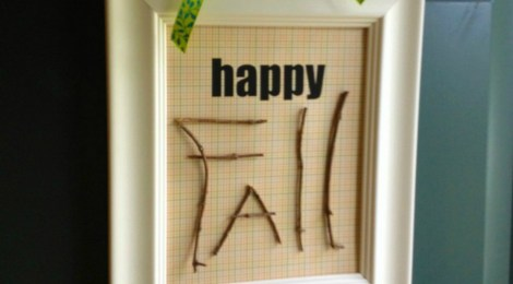 DIY Happy Fall Sign