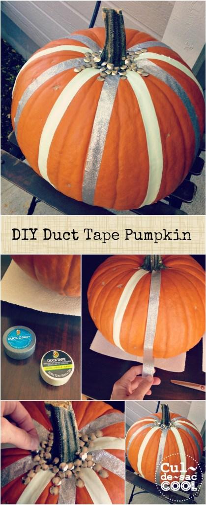 DIY Duct Tape Pumpkin collage