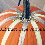 DIY Duct Tape Pumpkin