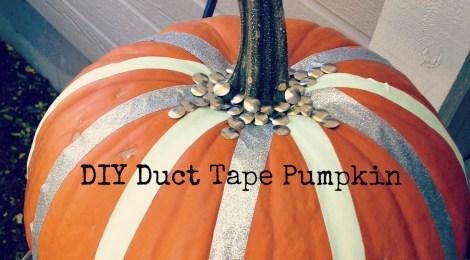 DIY Duct Tape Pumpkin