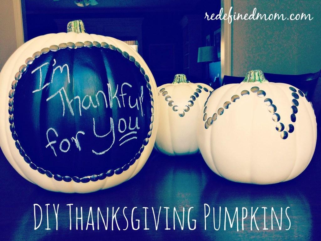 DIY Thanksgiving thumbtack pumpkins cover
