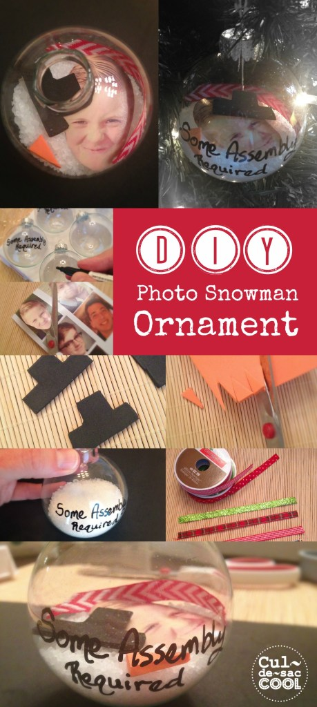 Photo snowman ornament Collage