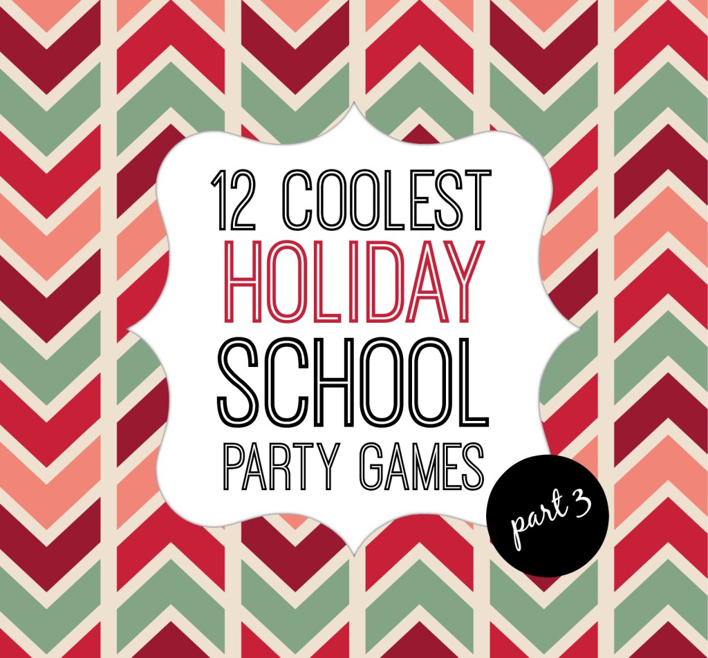 holiday school party games cover