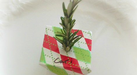 Easy DIY Rosemary Herb Holiday Place Cards