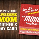 DIY Printable Awesome Mom Mother's Day Card