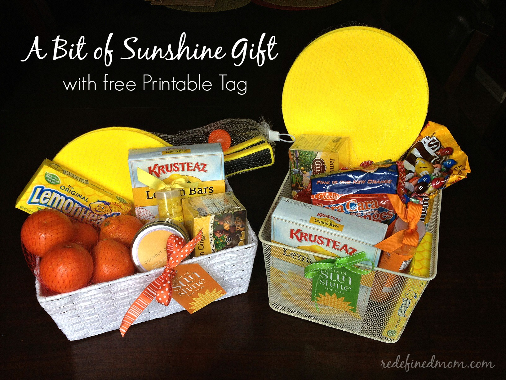 a bit of sunshine gift baskets