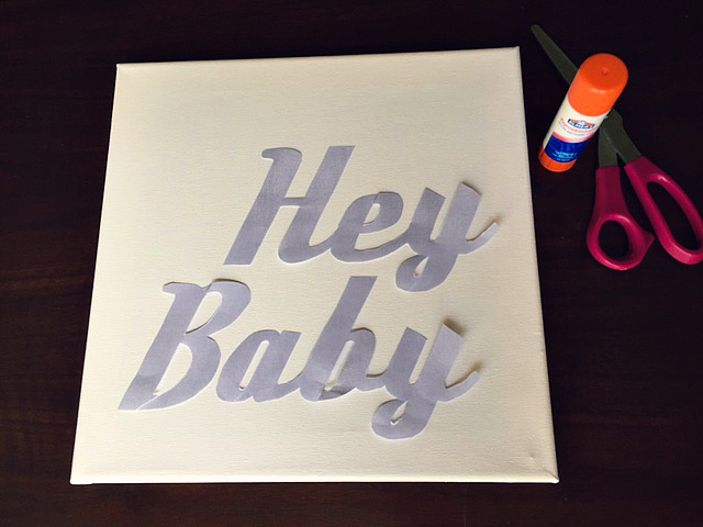 DIY 'Hey Baby' Thumb Tack Artwork 2