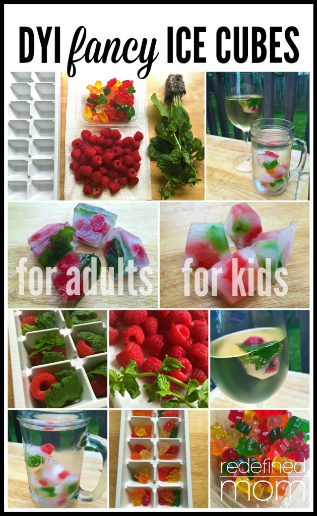 DIY Fancy Ice Cubes for Adults and Kids Collage