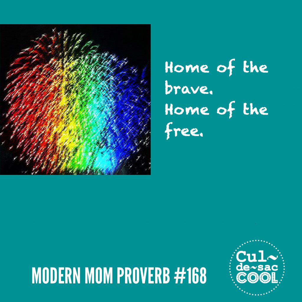 Modern Mom Proverb #168 Home of the Brave