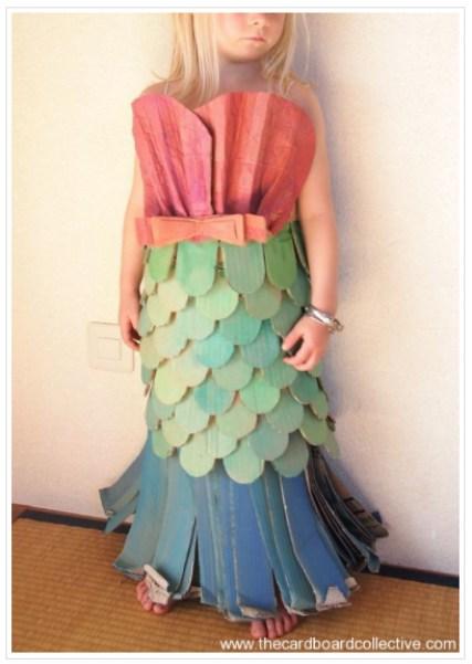 Cardboard Mermaid Costume