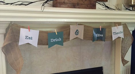 DIY  Printable Thanksgiving Banner