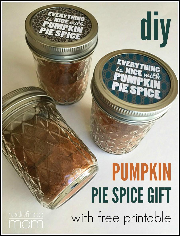 diy pumpkin pie spice gift cover