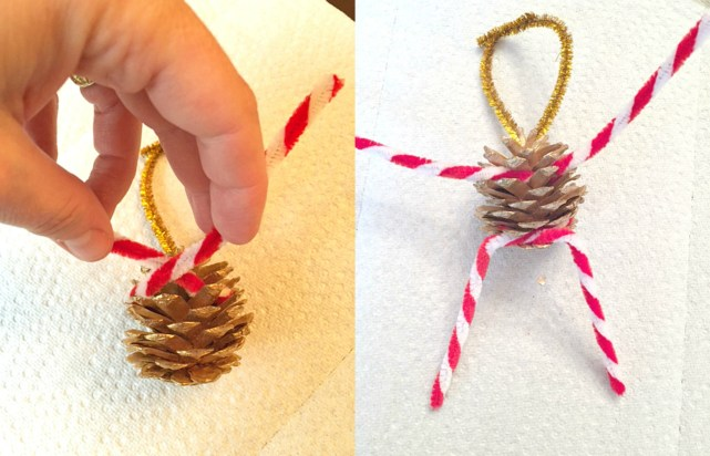 DIY Photo Elf Pine Cone Ornament Collage 2