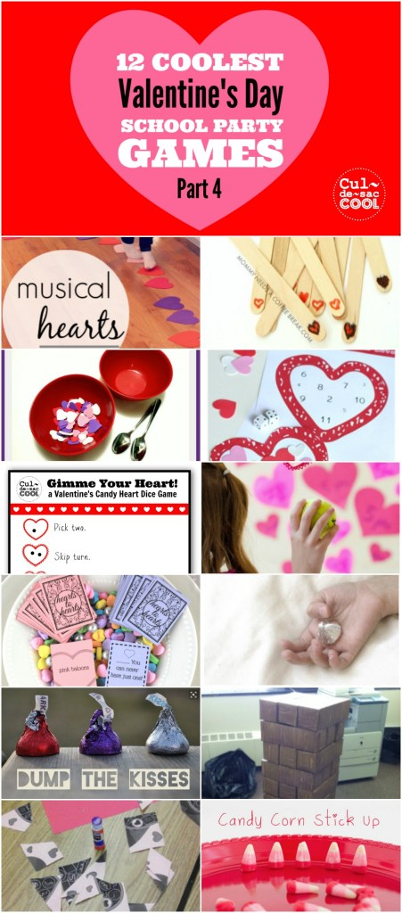 12 Coolest Valentines Day School Party Games Part 4 Collage