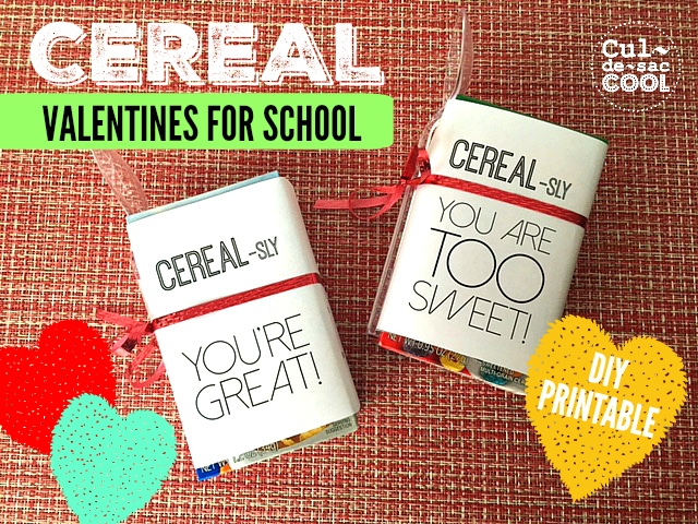 DIY Printable Cereal Valentines For School Cover 2