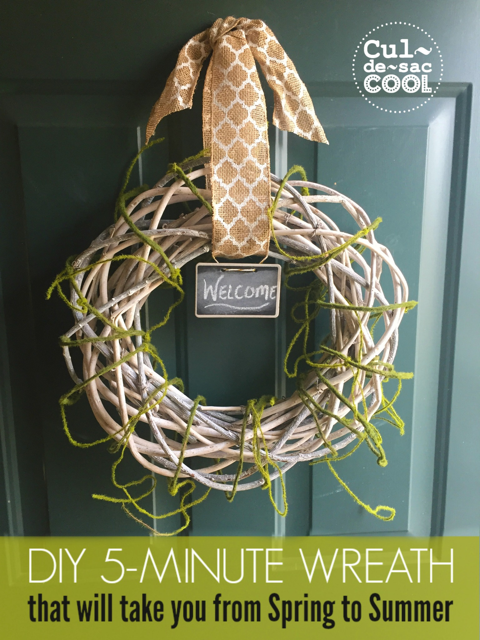 DIY 5-Minute Wreath that will take you from Spring to Summer 11