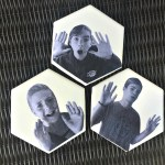 DIY Funny Face Photo Coasters