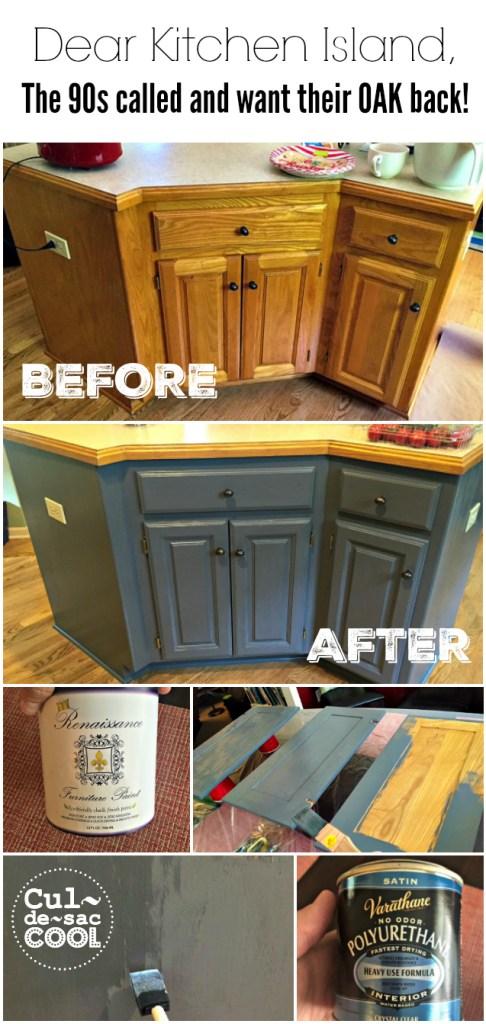 DIY Kitchen Island Remodel collage