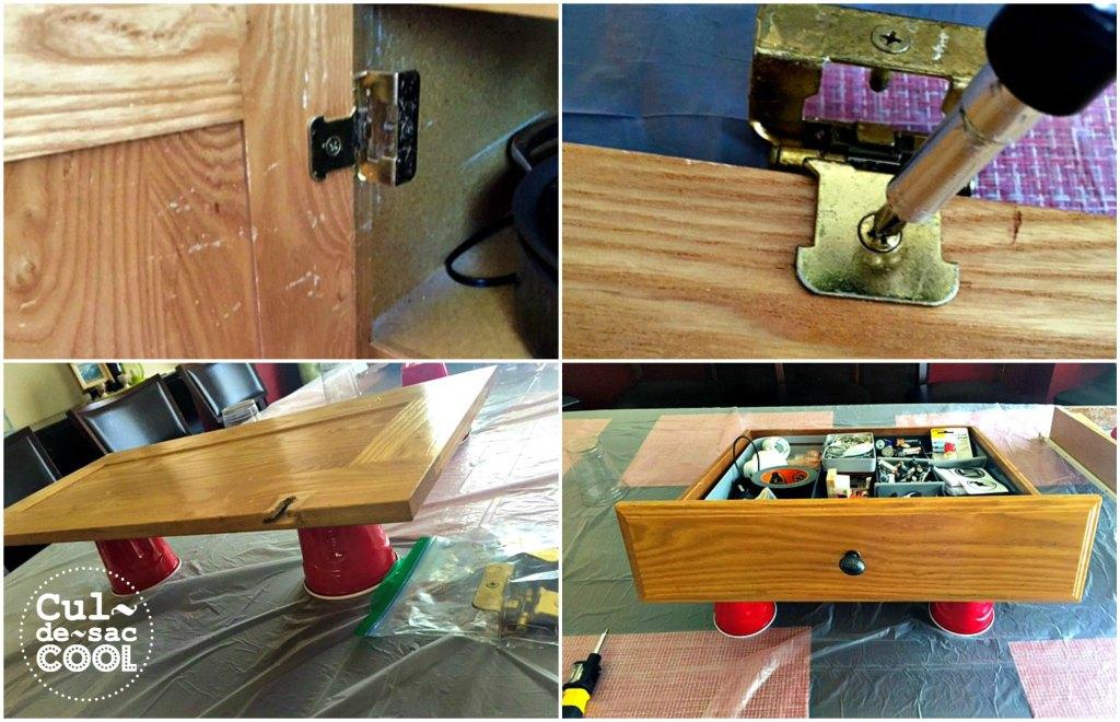 DIY Kitchen Island Remodel door drawers