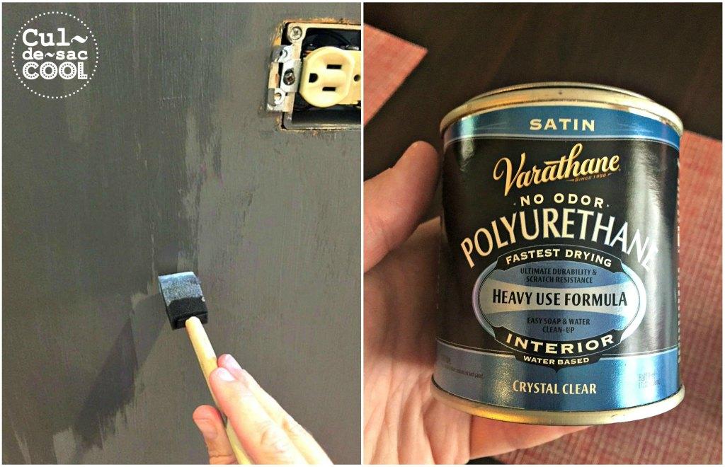 DIY Kitchen Island Remodel polyurethane